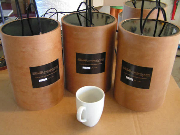 10 Duelund CAST 150 uF capacitors with coffee cup.jpg