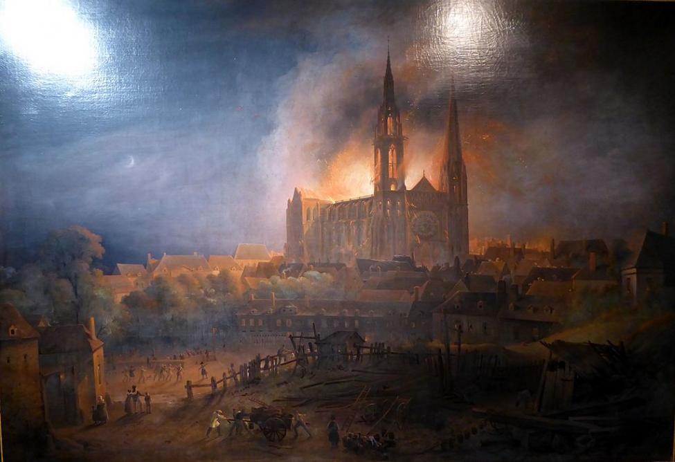 Navn:      Chartres_incendie_cathédrale_François_Alexandre_Pernot_1836_Eure-et-Loir_(France).jpg Visninger: 295 Størrelse: 63.9 Kb