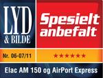Navn:      ELAC AM 150 OG AIRPORT EXPRESS LO-RES.JPG Visninger: 1043 Størrelse: 55.6 Kb