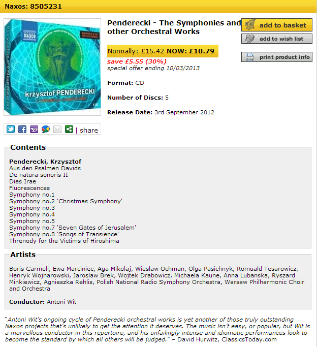 Europadisc Classical Music on CD, SACD, DVD and Blu-ray  Penderecki - The Symp_2013-03-08_18-52-.png