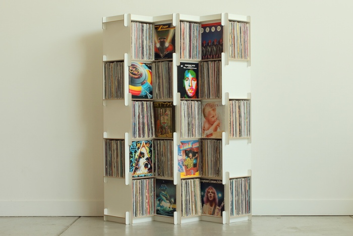grow modular shelving for vinyl and more. Black Bedroom Furniture Sets. Home Design Ideas