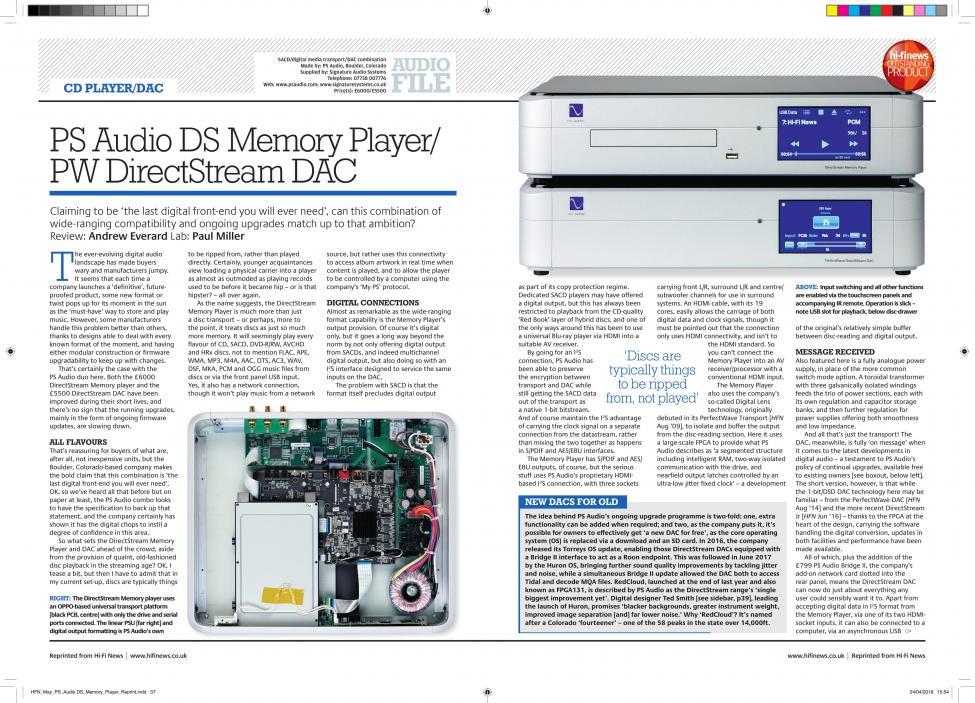 Navn:      HFN_May_PS_Audio DS_Memory_Player_Reprint-1.jpg Visninger: 455 Størrelse: 156.1 Kb