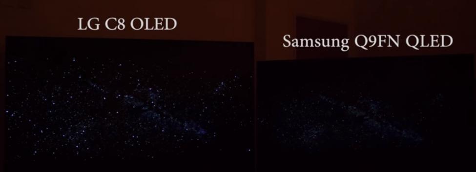 LG C8 OLED vs Samsung Q9FN QLED dark scene.jpg
