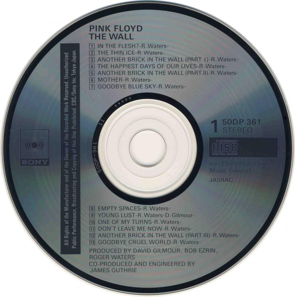 Pink Floyd - The Wall. CBS-Sony. 50DP-361-2. 1983..jpg