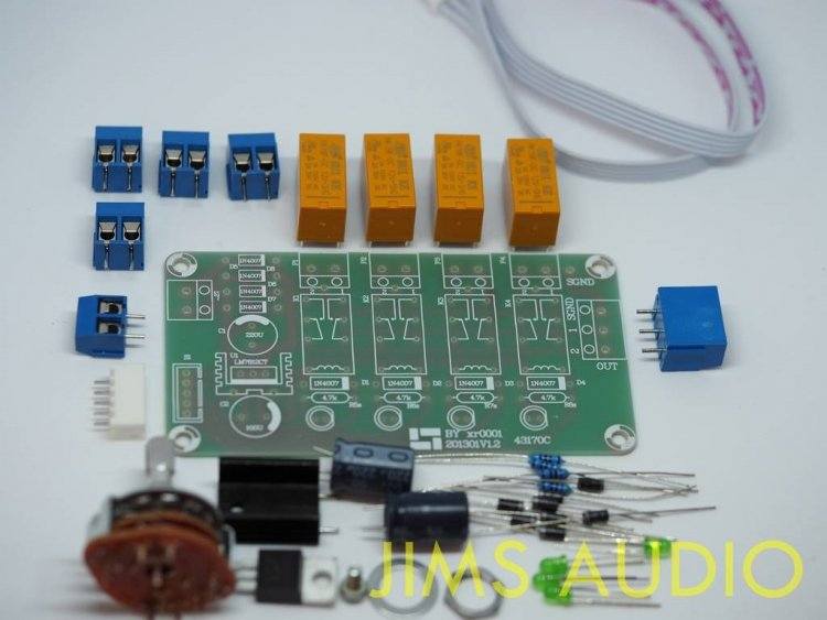 stereo audio channel input selector board kit, with 12Vdc supply .jpg