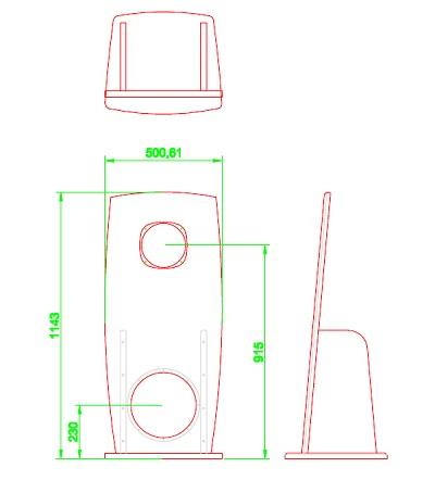 Navn:      tino alnico open baffle cnc tegning.jpg Visninger: 1515 Størrelse: 25.0 Kb